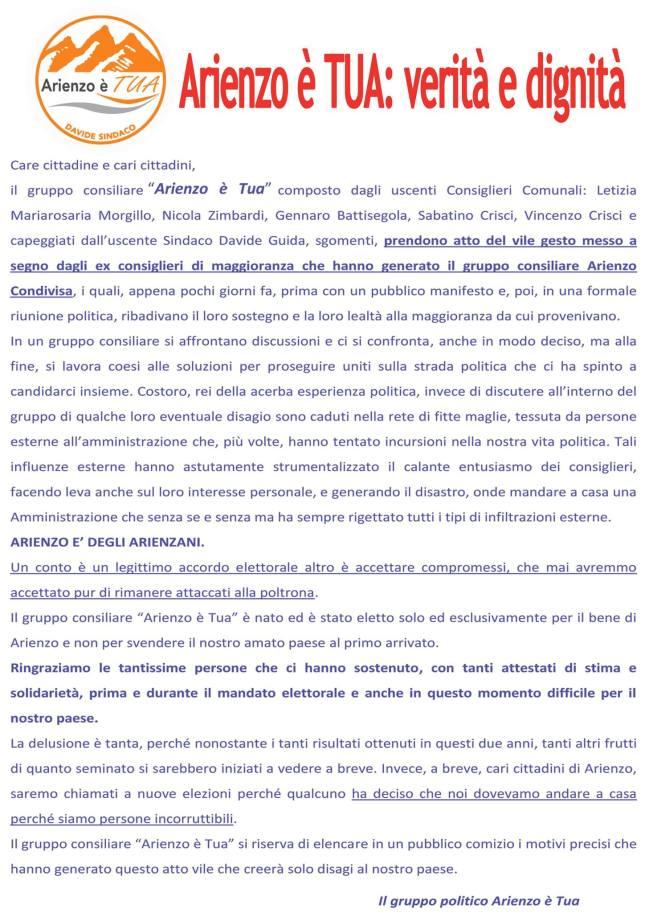 manifesto arienzoètua